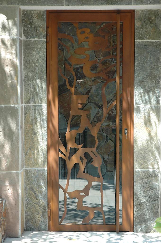 Porta de aço corten