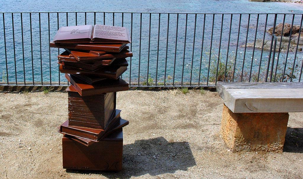 Escultura em aço corten